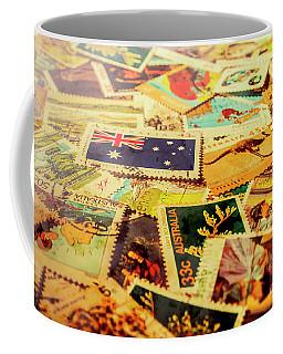 Australian Postal Background Coffee Mug