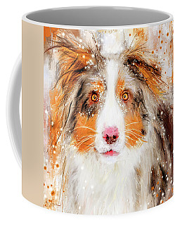 Australian Shepherd Paintings Coffee Mug