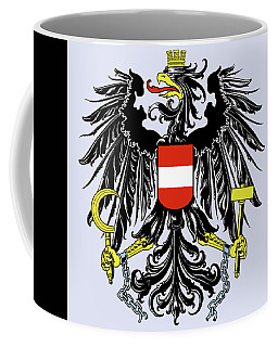 Coffee Mug featuring the drawing Austria Coat Of Arms by Movie Poster Prints