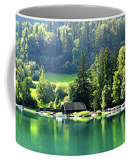 Coffee Mug featuring the photograph Austrian Lake by Kathy Kelly