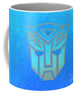 Coffee Mug featuring the digital art Autobot Scales by Justin Moore