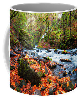 Autumn Along Bridal Veil Coffee Mug