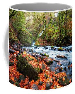 Autumn Along Bridal Veil Coffee Mug