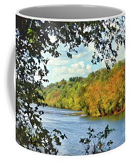 Autumn Along The New River - Bisset Park - Radford Virginia Coffee Mug