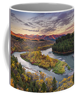 Autumn Along The Snake River Coffee Mug