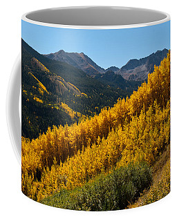 Coffee Mug featuring the photograph Autumn Aspen Near Castle Creek by Cascade Colors