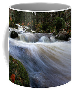 Coffee Mug featuring the photograph Autumn At The Bode, Harz by Andreas Levi