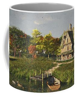 Coffee Mug featuring the digital art Autumn At The Lake by Jayne Wilson