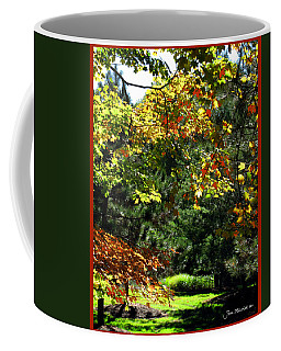 Coffee Mug featuring the photograph Autumn Backyard by Joan  Minchak
