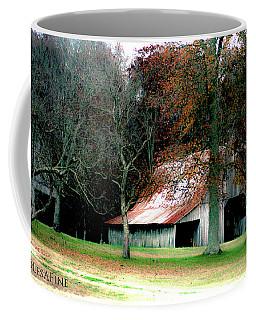 Autumn Barn In Alabama Coffee Mug