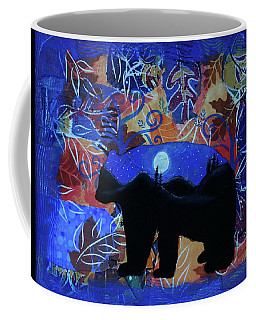 Autumn Bear Silhoutte Coffee Mug