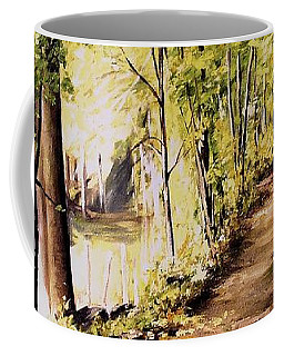 Autumn Begins In Underhill Coffee Mug by Laurie Rohner
