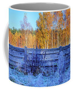 Coffee Mug featuring the photograph Autumn Behind by Dmytro Korol