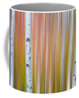 Autumn Birch Abstract Coffee Mug