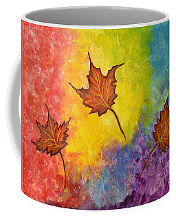 Autumn Bliss Colorful Abstract Painting Coffee Mug