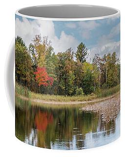 Autumn Blue Heron Coffee Mug