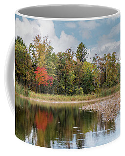 Autumn Blue Heron Coffee Mug