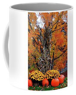 Autumn Bounty, Pumpkins And Mums Coffee Mug