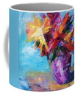 Colorful Flowers  Coffee Mug by Yulia Kazansky