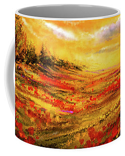 Autumn Burst - Autumn Foliage Colorful Art Coffee Mug