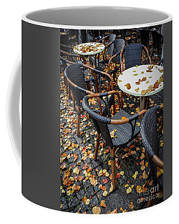 Coffee Mug featuring the photograph Autumn Cafe by Elena Elisseeva