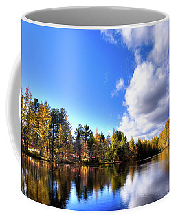 Coffee Mug featuring the photograph Autumn Calm At Woodcraft Camp by David Patterson