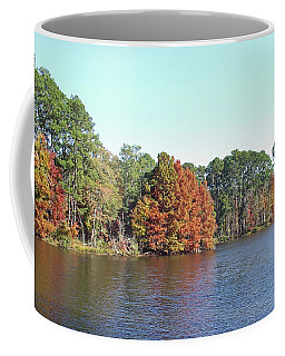 Coffee Mug featuring the photograph Autumn Color At Ratcliff Lake by Jayne Wilson