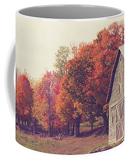 Autumn Color On The Old Farm Coffee Mug by Edward Fielding