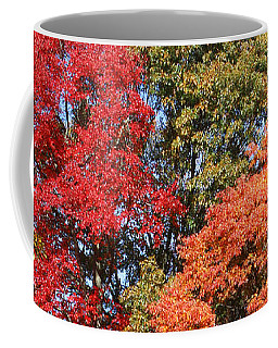 Coffee Mug featuring the photograph Autumn Color Spray by William Selander