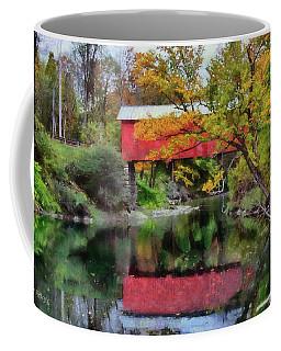 Autumn Colors Over Slaughterhouse. Coffee Mug