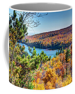 Autumn Colors Overlooking Lax Lake Tettegouche State Park II Coffee Mug