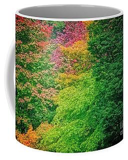 Autumn Colors On Acer Tree Leafs Coffee Mug