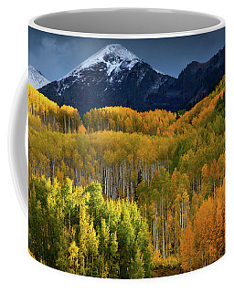 Coffee Mug featuring the photograph Autumn Comes To The Ruby Range by John De Bord