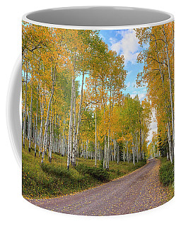 Coffee Mug featuring the photograph Autumn Country Road by Spencer Baugh