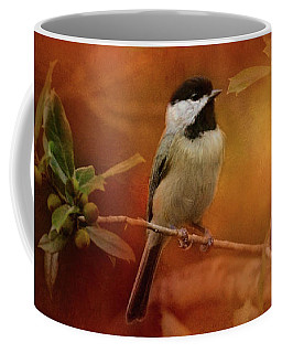 Autumn Day Chickadee Bird Art Coffee Mug