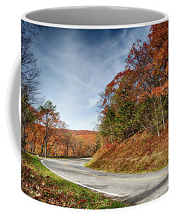 Coffee Mug featuring the photograph Autumn Dreams Around The Bend by Lara Ellis