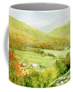 Autumn Farm In Vermont Coffee Mug