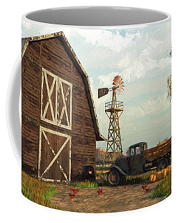 Autumn Farm Scene Coffee Mug