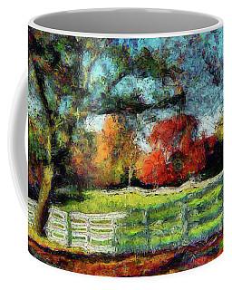 Autumn Field On The Farm Coffee Mug