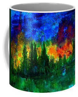 Coffee Mug featuring the painting Autumn Fires by Claire Bull
