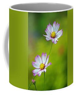 Coffee Mug featuring the photograph Autumn Flowers by Byron Varvarigos