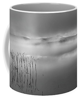 Coffee Mug featuring the photograph Autumn Fog Black And White by Bill Wakeley