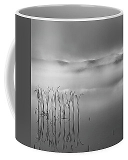 Coffee Mug featuring the photograph Autumn Fog Black And White Square by Bill Wakeley