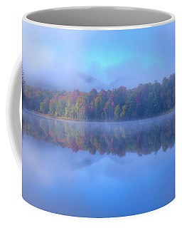 Coffee Mug featuring the photograph Autumn Fog Lifting by David Patterson