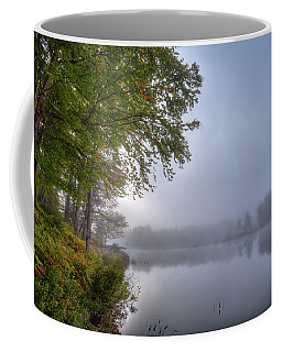 Coffee Mug featuring the photograph Autumn Fog On West Lake by David Patterson