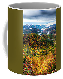 Autumn Foliage On Blue Ridge Parkway Near Maggie Valley North Ca Coffee Mug