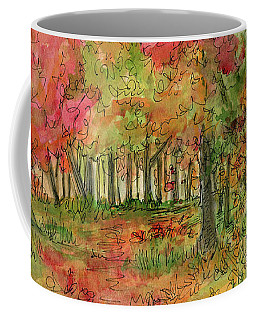 Autumn Forest Watercolor Illustration Coffee Mug