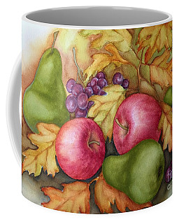 Coffee Mug featuring the painting Autumn Fruit Still Life by Inese Poga