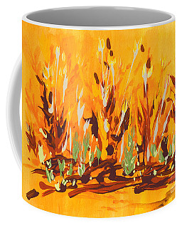 Coffee Mug featuring the painting Autumn Garden by Holly Carmichael