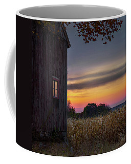 Coffee Mug featuring the photograph Autumn Glow Square by Bill Wakeley